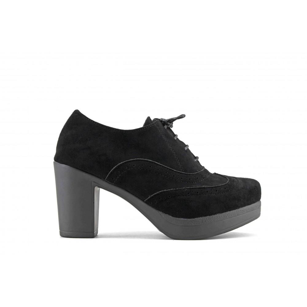 23dbf1638b833 Zapato Blucher Tacón Ancho